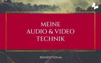 Mein Video- und Ton-Equipment